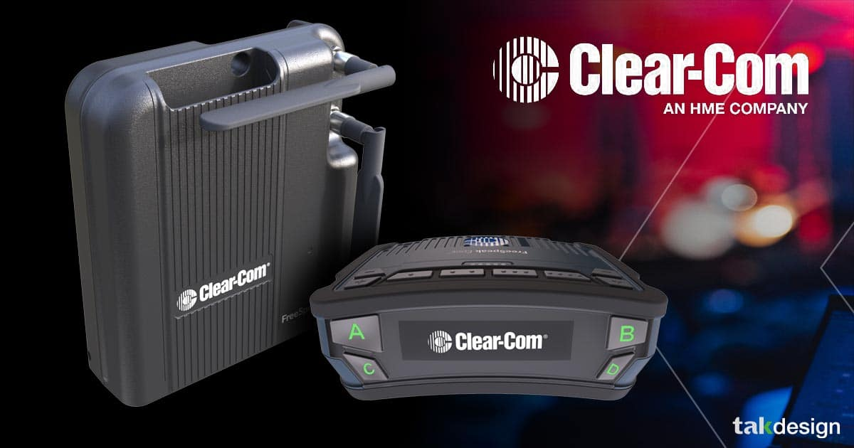 ClearCom - FreeSpeak edge design by Tak design